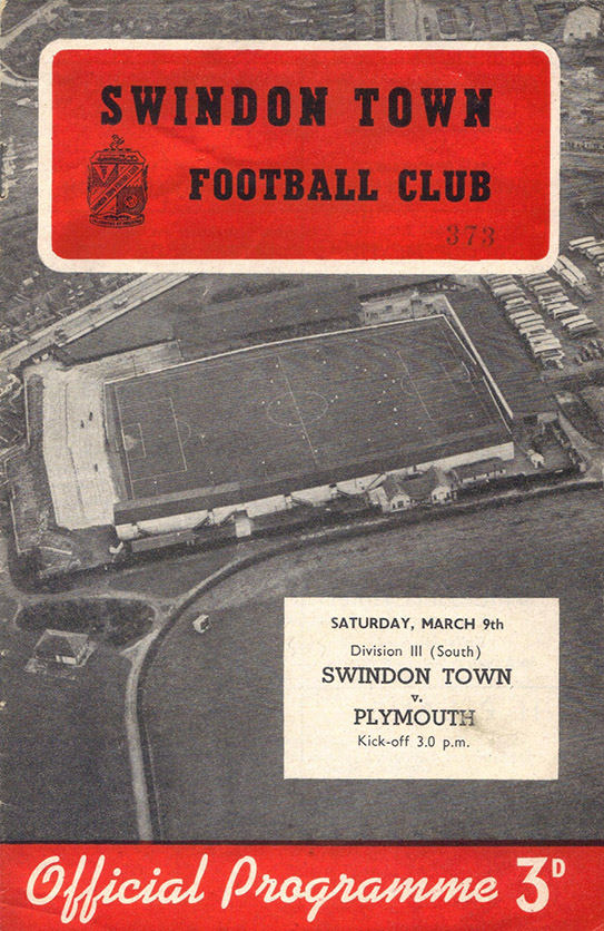 <b>Saturday, March 9, 1957</b><br />vs. Plymouth Argyle (Home)