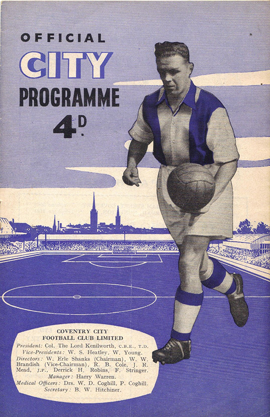 <b>Saturday, March 16, 1957</b><br />vs. Coventry City (Away)