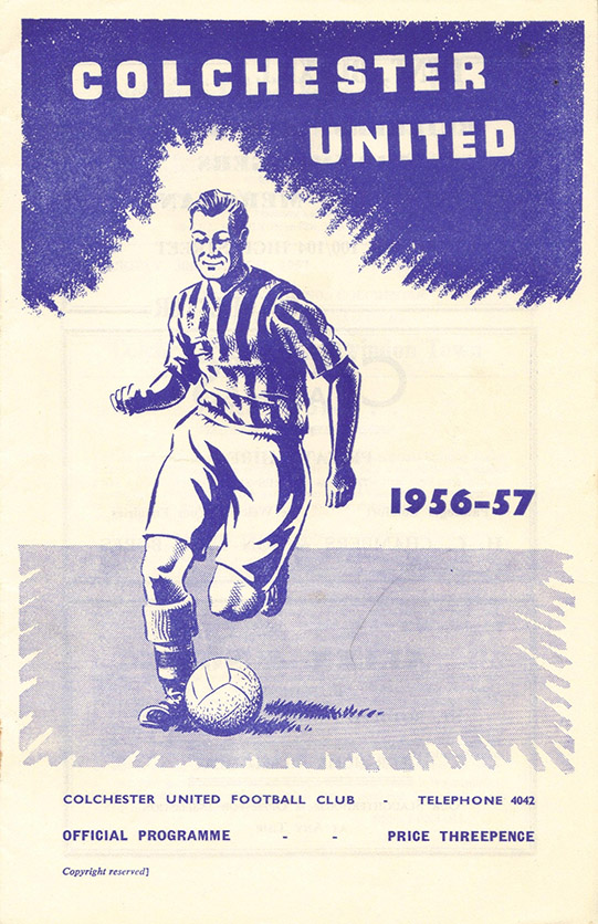 <b>Saturday, March 30, 1957</b><br />vs. Colchester United (Away)