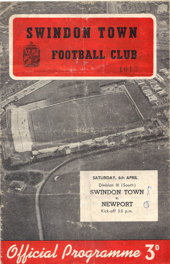 <b>Saturday, April 6, 1957</b><br />vs. Newport County (Home)