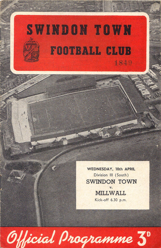 <b>Wednesday, April 10, 1957</b><br />vs. Millwall (Home)