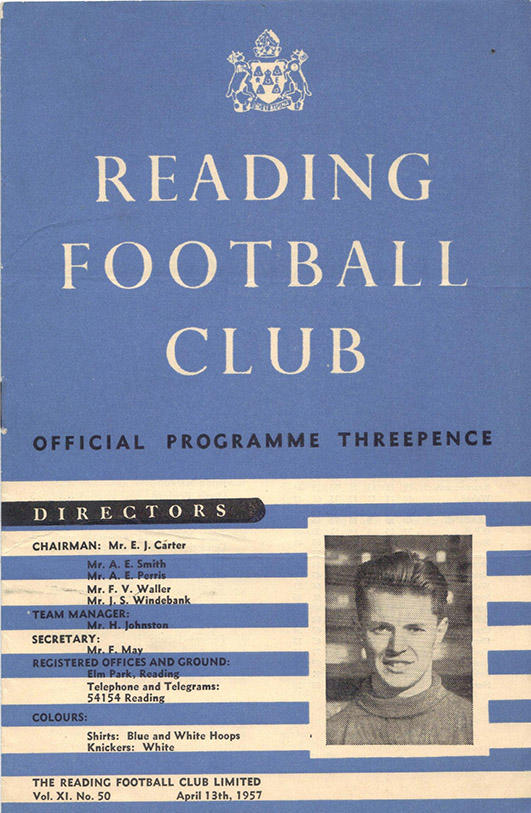 <b>Saturday, April 13, 1957</b><br />vs. Reading (Away)
