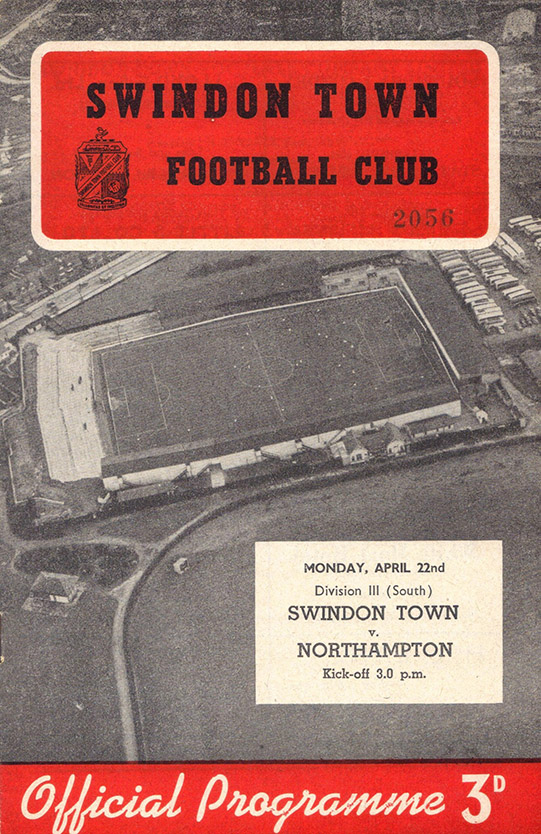<b>Monday, April 22, 1957</b><br />vs. Northampton Town (Home)