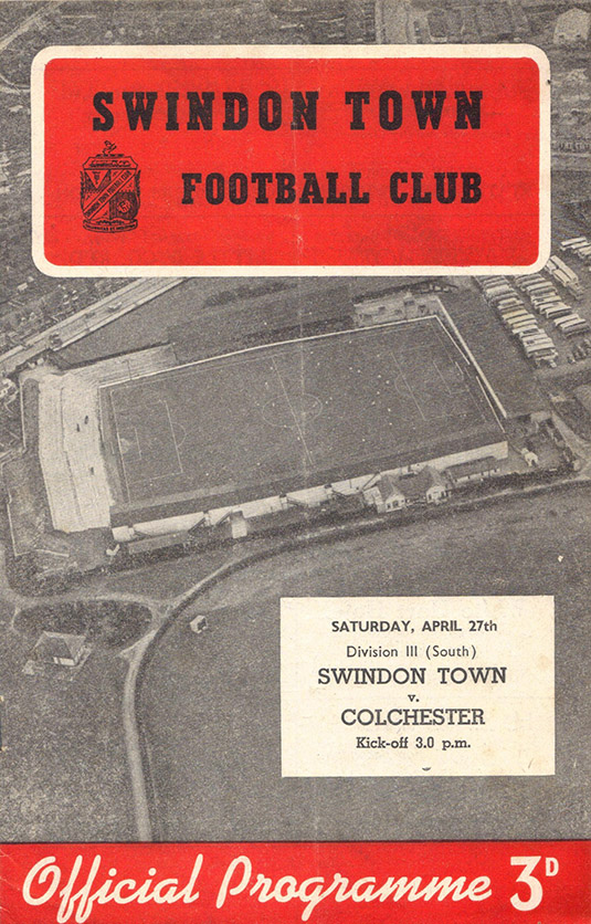 <b>Saturday, April 27, 1957</b><br />vs. Colchester United (Home)