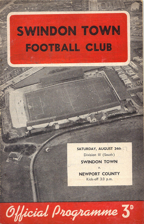 Saturday, August 24, 1957 - vs. Newport County (Home)