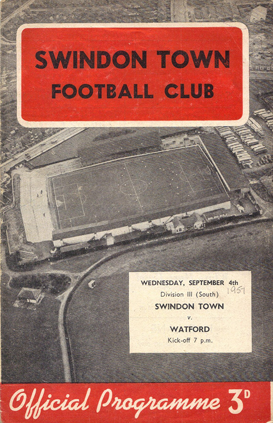 Wednesday, September 4, 1957 - vs. Watford (Home)