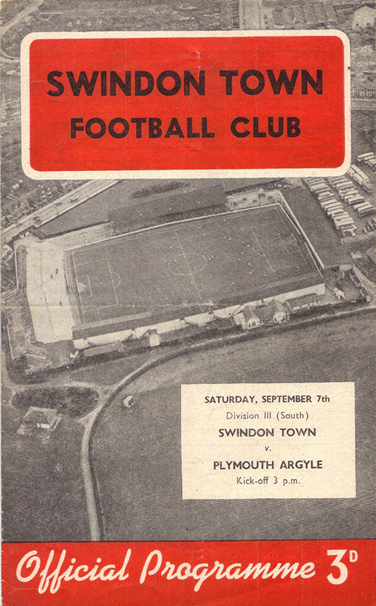 Saturday, September 7, 1957 - vs. Plymouth Argyle (Home)