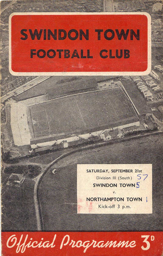Saturday, September 21, 1957 - vs. Northampton Town (Home)