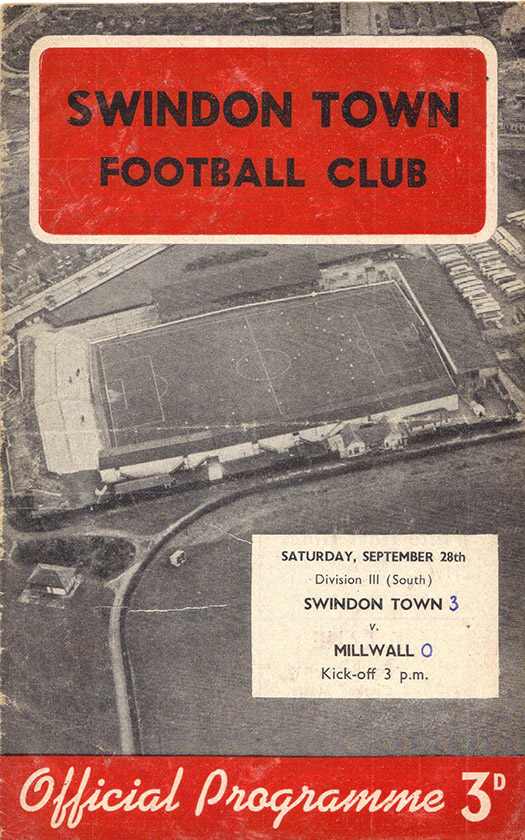Saturday, September 28, 1957 - vs. Millwall (Home)