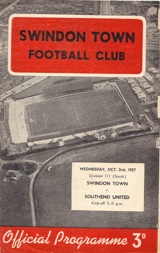 Wednesday, October 2, 1957 - vs. Southend United (Home)