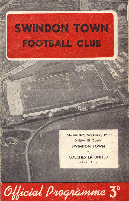 Saturday, November 2, 1957 - vs. Colchester United (Home)