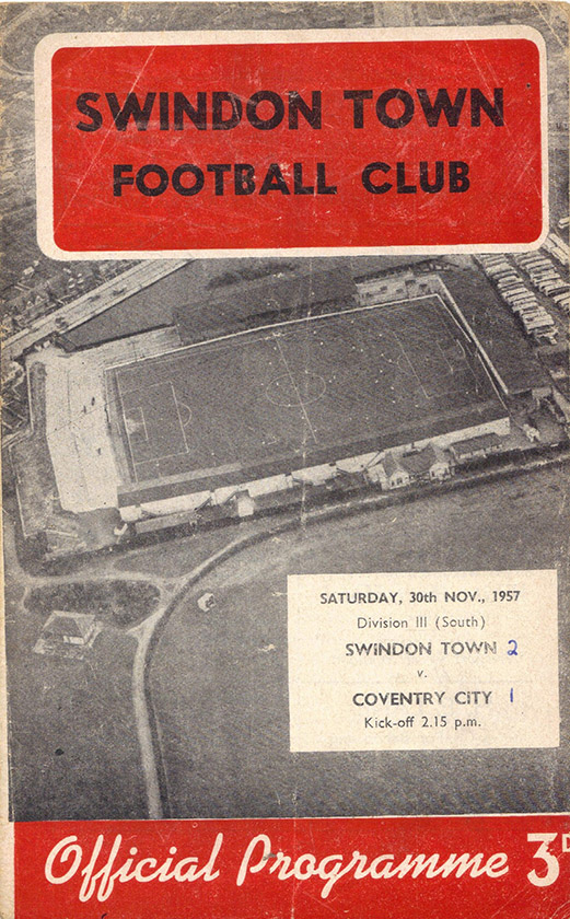 Saturday, November 30, 1957 - vs. Coventry City (Home)