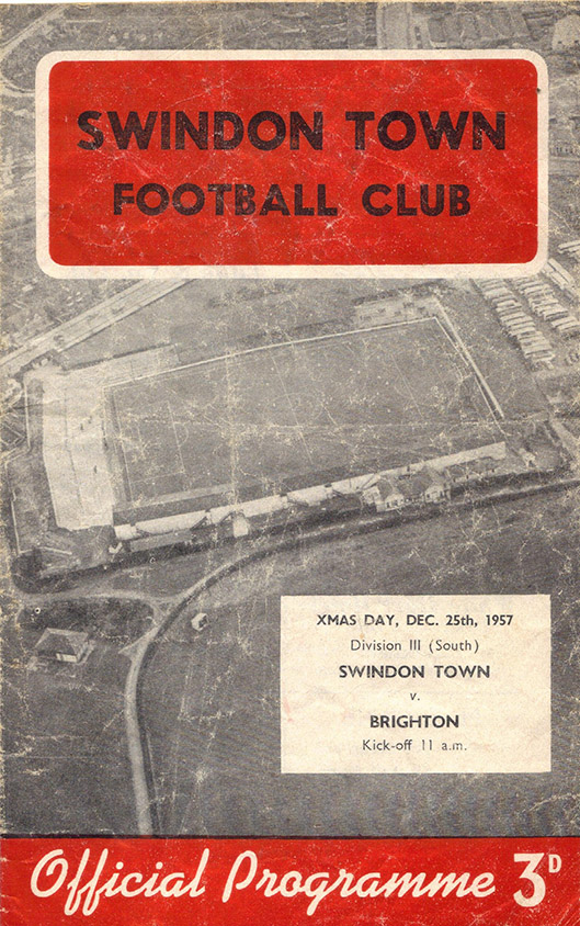 Wednesday, December 25, 1957 - vs. Brighton and Hove Albion (Home)