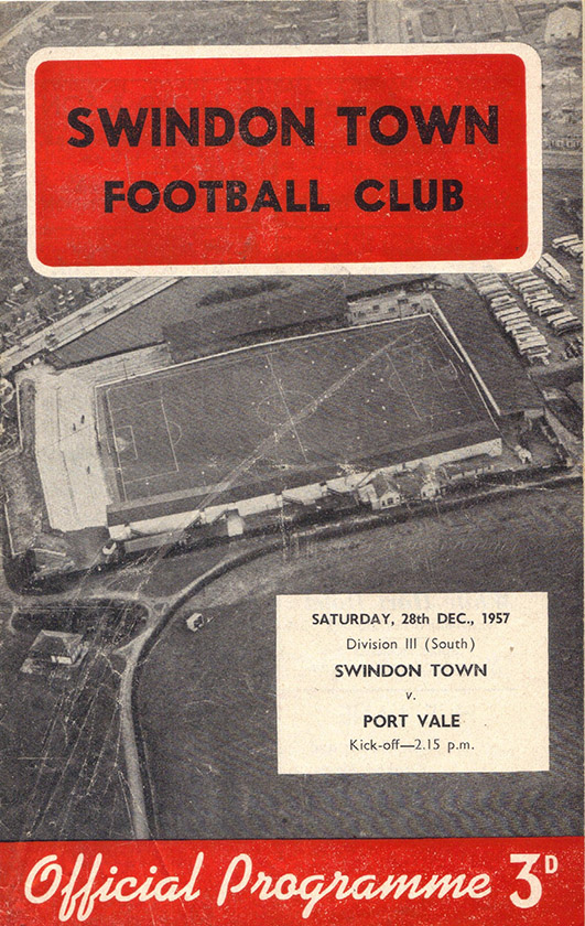 Saturday, December 28, 1957 - vs. Port Vale (Home)