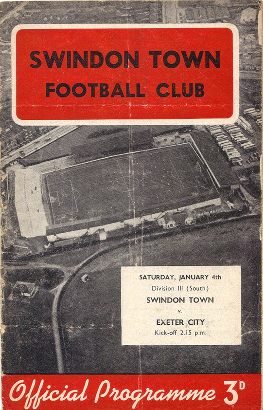 Saturday, January 4, 1958 - vs. Exeter City (Home)