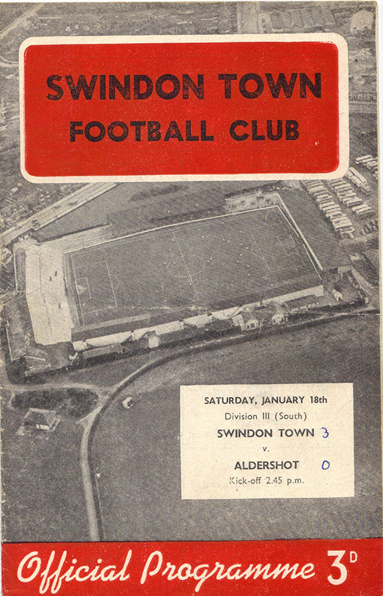 Saturday, January 18, 1958 - vs. Aldershot (Home)