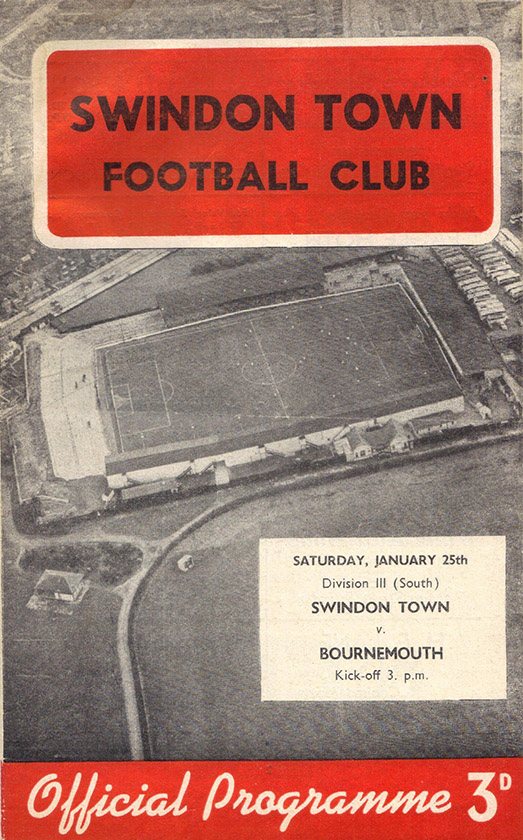 Saturday, January 25, 1958 - vs. Bournemouth and Boscombe Athletic (Home)