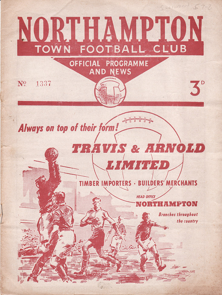 Saturday, February 1, 1958 - vs. Northampton Town (Away)