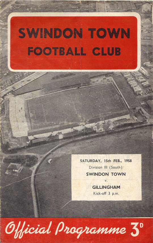 Saturday, February 15, 1958 - vs. Gillingham (Home)