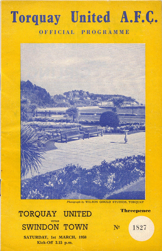 Saturday, March 1, 1958 - vs. Torquay United (Away)