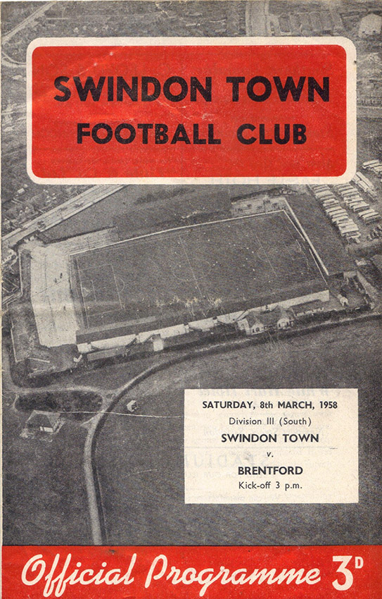 Saturday, March 8, 1958 - vs. Brentford (Home)