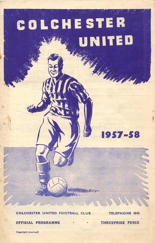 Saturday, March 15, 1958 - vs. Colchester United (Away)