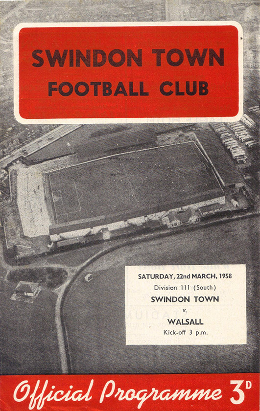 Saturday, March 22, 1958 - vs. Walsall (Home)