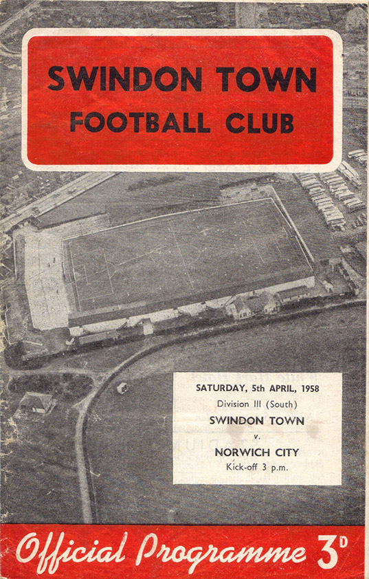 Saturday, April 5, 1958 - vs. Norwich City (Home)