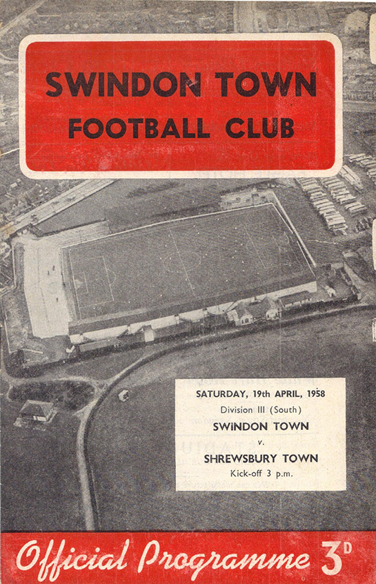 Saturday, April 19, 1958 - vs. Shrewsbury Town (Home)