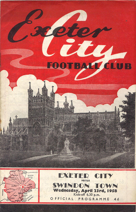 Wednesday, April 23, 1958 - vs. Exeter City (Away)