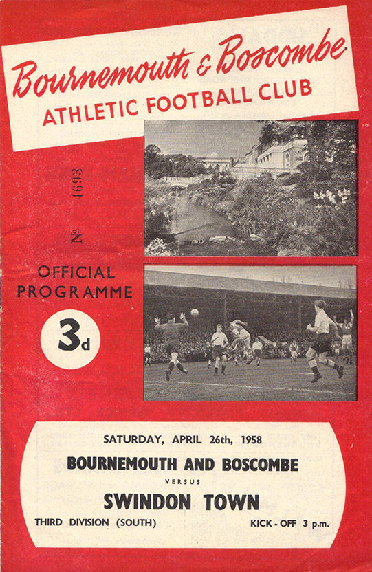 Saturday, April 26, 1958 - vs. Bournemouth and Boscombe Athletic (Away)
