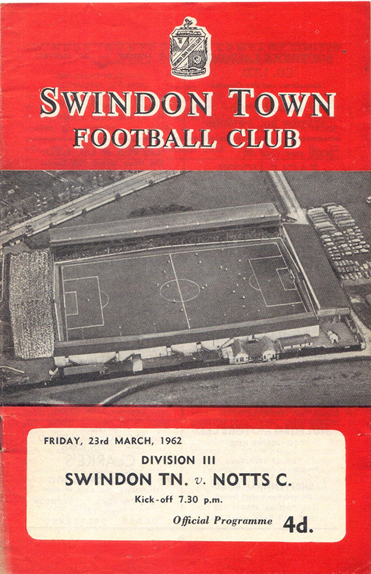 Friday, March 23, 1962 - vs. Notts County (Home)