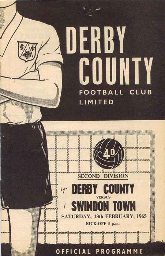 Saturday, February 13, 1965 - vs. Derby County (Away)