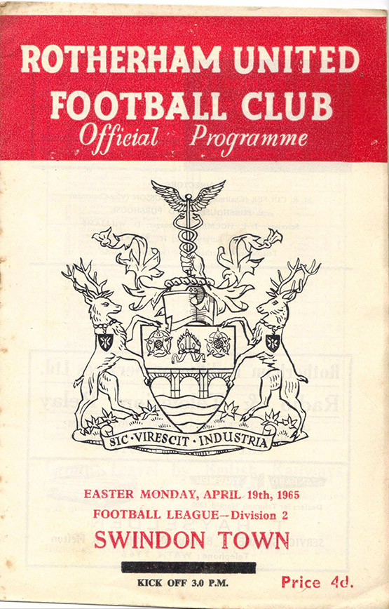 Monday, April 19, 1965 - vs. Rotherham United (Away)