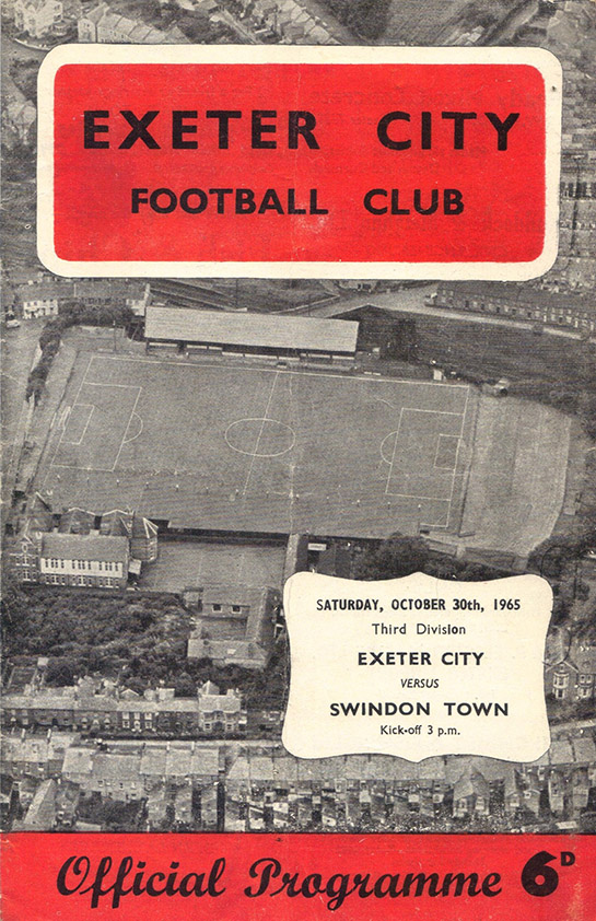 Saturday, October 30, 1965 - vs. Exeter City (Away)