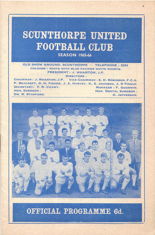 Saturday, December 11, 1965 - vs. Scunthorpe United (Away)