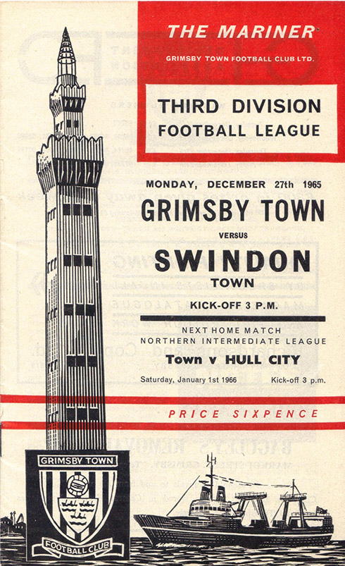 Monday, December 27, 1965 - vs. Grimsby Town (Away)