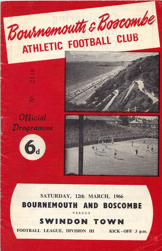Saturday, March 12, 1966 - vs. Bournemouth and Boscombe Athletic (Away)