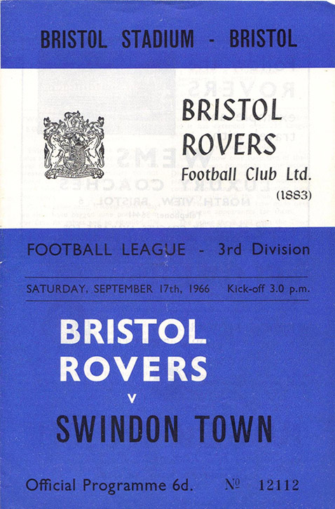 Saturday, September 17, 1966 - vs. Bristol Rovers (Away)