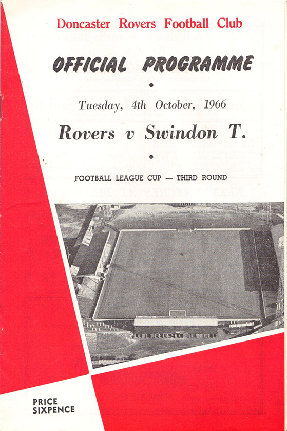 Tuesday, October 4, 1966 - vs. Doncaster Rovers (Away)