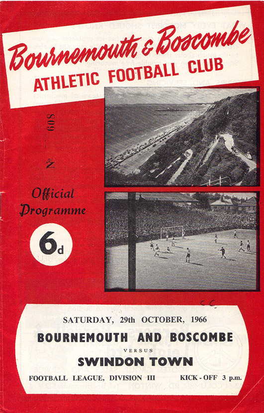 Saturday, October 29, 1966 - vs. Bournemouth and Boscombe Athletic (Away)