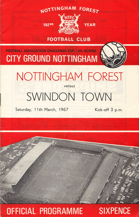 Saturday, March 11, 1967 - vs. Nottingham Forest (Away)
