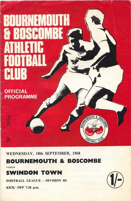 Wednesday, September 18, 1968 - vs. Bournemouth and Boscombe Athletic (Away)