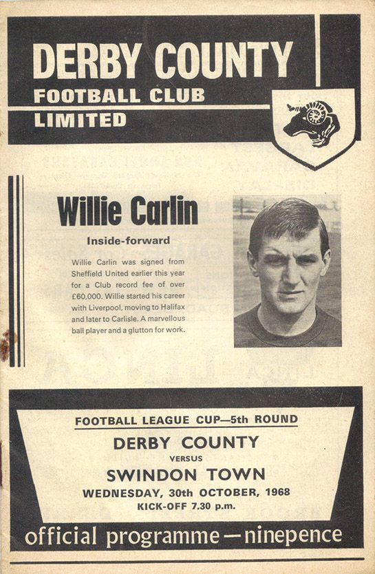 Wednesday, October 30, 1968 - vs. Derby County (Away)