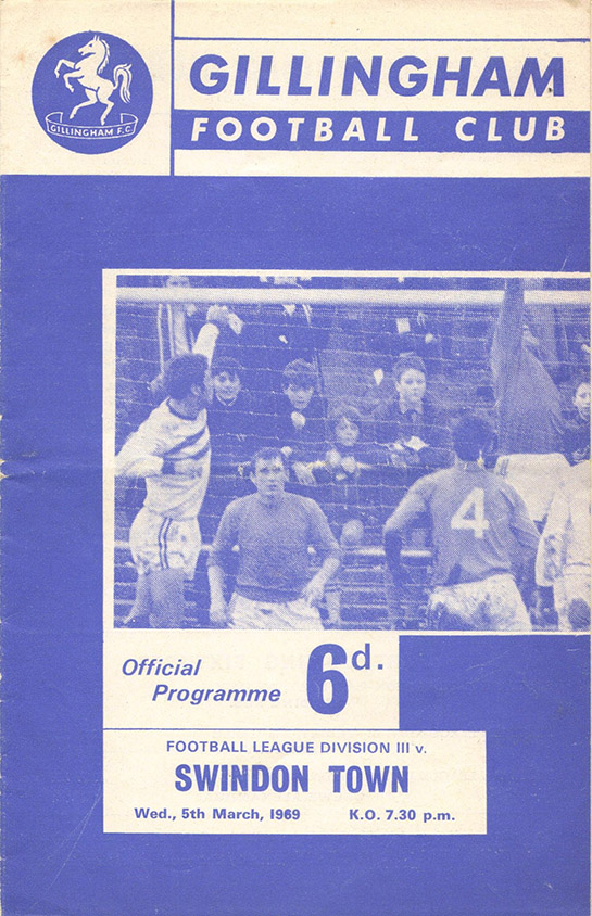Wednesday, March 5, 1969 - vs. Gillingham (Away)