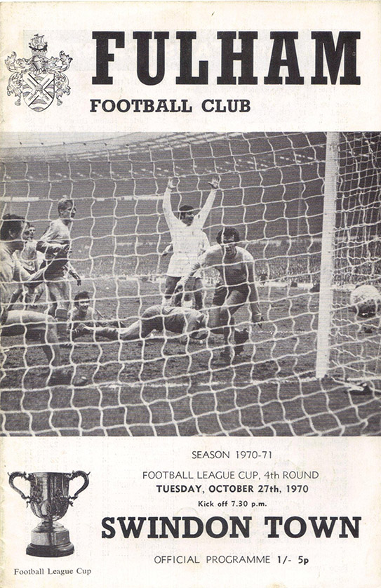 Tuesday, October 27, 1970 - vs. Fulham (Away)
