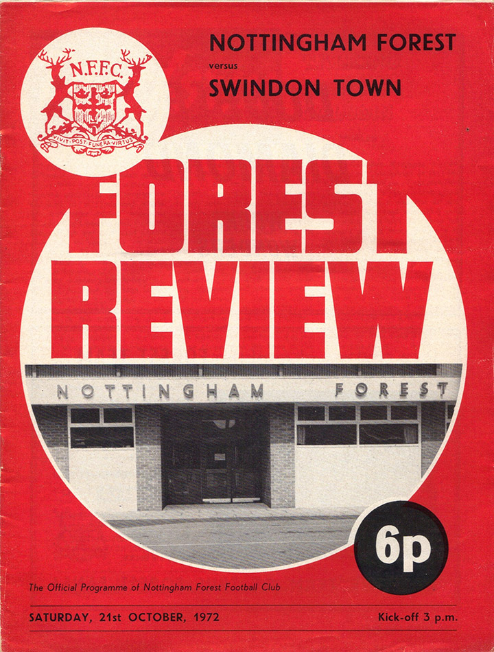 Saturday, October 21, 1972 - vs. Nottingham Forest (Away)