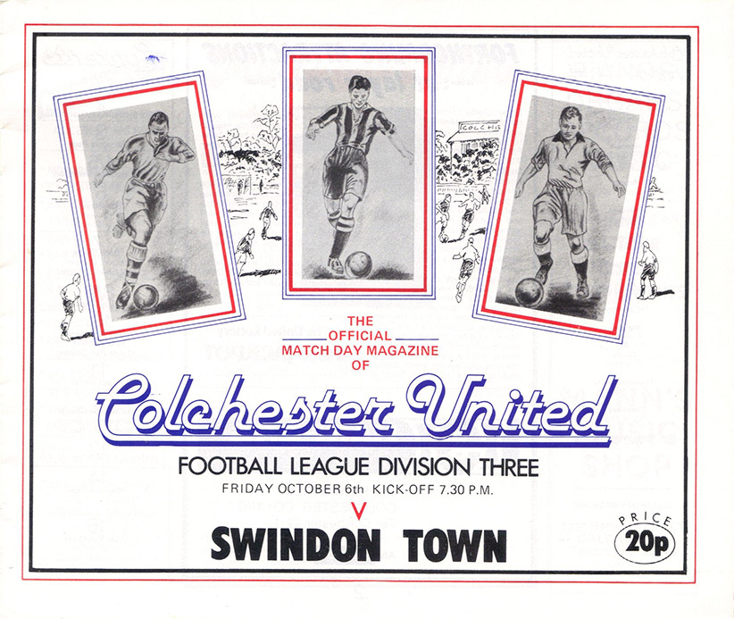 Friday, October 6, 1978 - vs. Colchester United (Away)