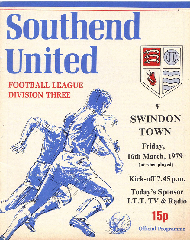 Friday, March 16, 1979 - vs. Southend United (Away)