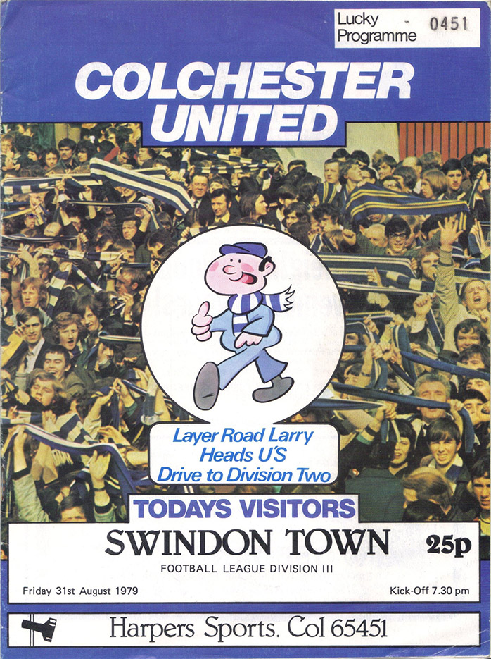 <b>Friday, August 31, 1979</b><br />vs. Colchester United (Away)